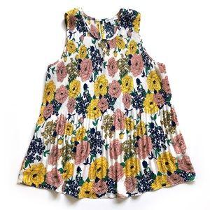 Carolina Belle pleated floral tank top